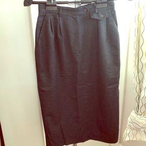 Vintage Talbots Dark Grey USA Made pencil skirt